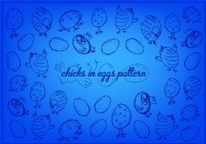 自由复活节小鸡矢量背景