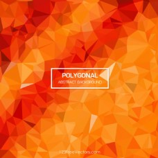 橘红色的摘要多边形背景插画