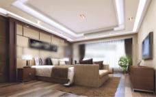 房间背景墙3d模型下载