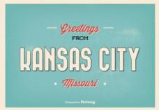 密苏里堪萨斯城欢迎插画