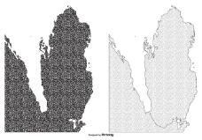 纹理卡塔尔地图插图