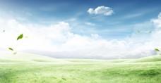 蓝天白云淘宝背景