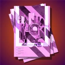 紫色几何画册图片