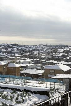 雪景中的城市