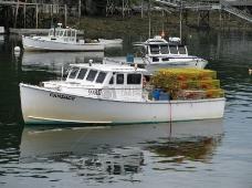 湖泊上的渔船