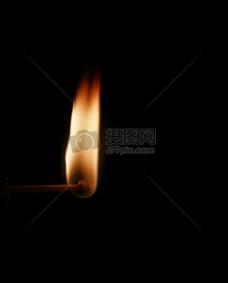 燃烧的柴火火焰