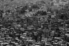 建筑物和房屋的灰阶摄影