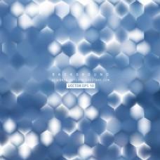 中文摘要蓝色六角背景设计