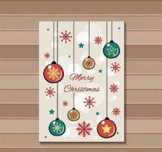 装饰球可爱圣诞卡