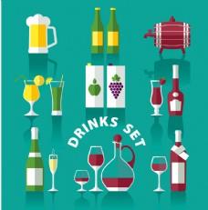 扁平化设计-酒类