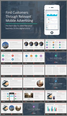 互联网企业媒体营销报告PPT模板