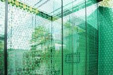 博物馆的绿色图案