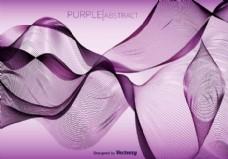 紫色抽象矢量波背景