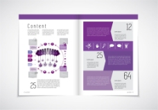 紫色时尚宣传单设计图片