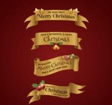 优雅圣诞丝带