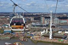 伦敦泰晤士河上的缆车