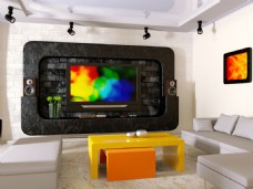 电视背景墙装修高清图片