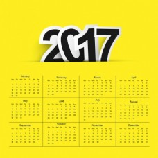 2017日历背景