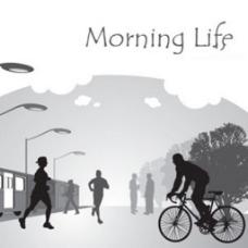 早晨的生活错觉图案背景海报图