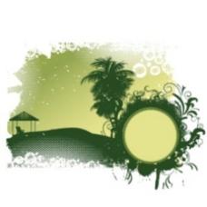 夏天的矢量图形背景插图