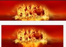 红色火背景图片