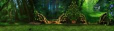 唯美浪漫森林淘宝背景