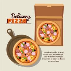 包装披萨图片
