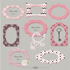 粉色花纹相框图片