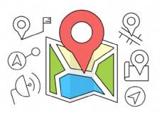 免费GPS的图标