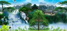 山水风景模板