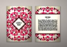红色花纹传单设计图片