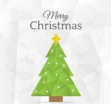 漫画多边形圣诞树木素材