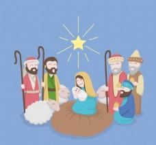 耶稣基督诞生的场景中心