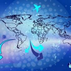 世界旅行图表背景