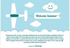 欢迎夏天的插图
