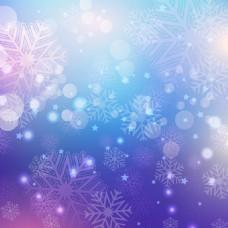 装饰圣诞背景虚化背景的雪花