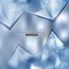 蓝色三角形多边形背景设计