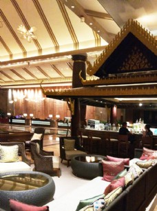 五星级宾馆大堂夜景