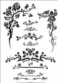 玫瑰花边框素材