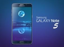 手机高端海报三星GalaxyNote5