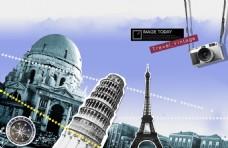 欧洲旅行psd设计素材