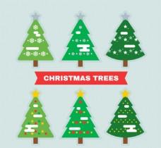圣诞树与雪花