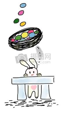 趴在桌子上的兔子