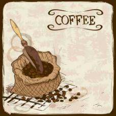 一袋咖啡豆图片
