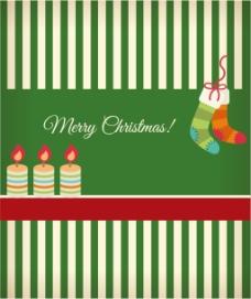 圣诞袜和蜡烛