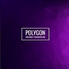现代多边形紫色背景