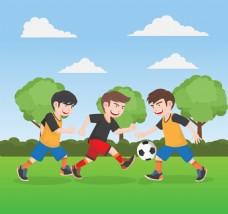 青少年足球比赛背景