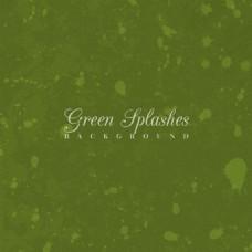 油漆飞溅的绿色背景