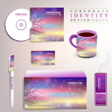 时尚紫色VI