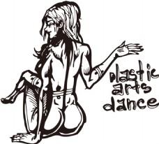 性感美女涂鸦插画